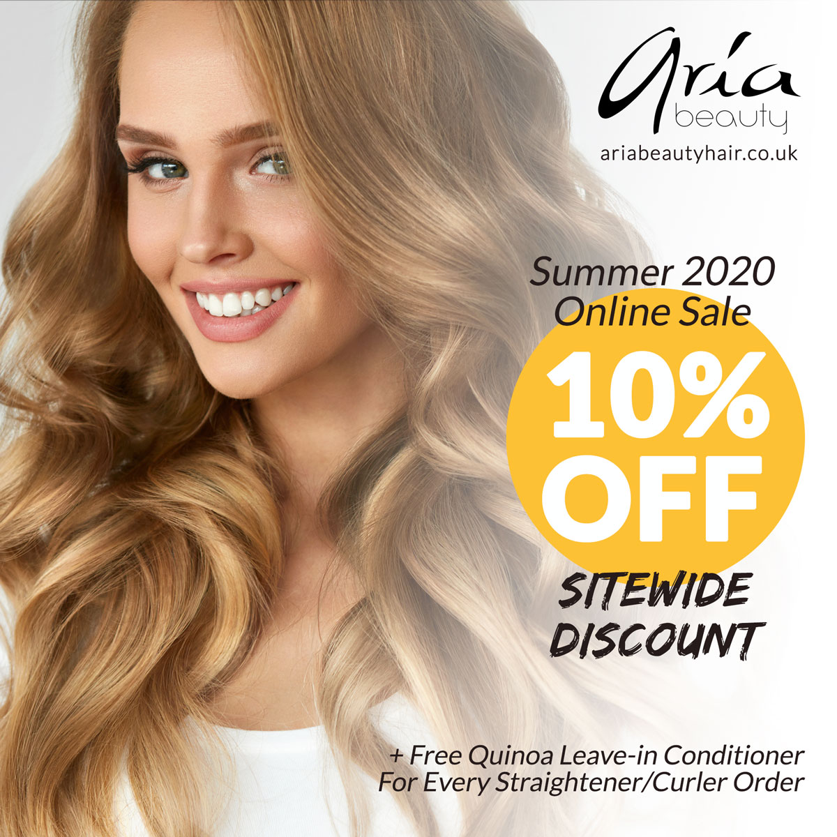 Summer 2020 Online Sale on Aria Beauty Europe