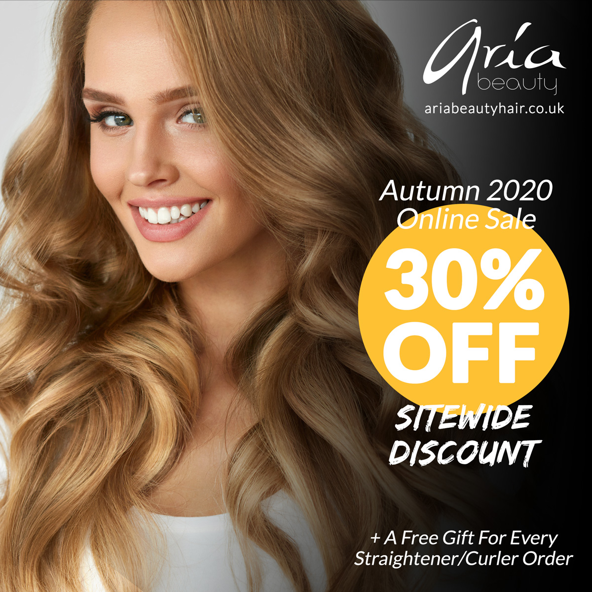 Autumn 2020 Online Sale on Aria Beauty Europe