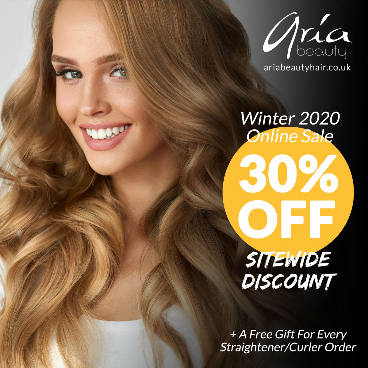 Winter 2020 Online Sale on Aria Beauty Europe